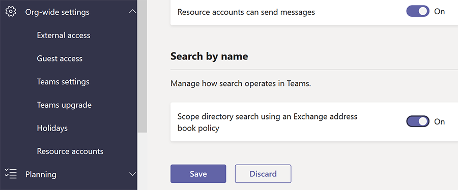 Activating Information Barriers policies in Microsoft Teams