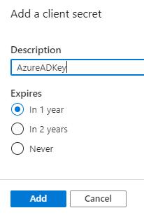 Azure AD Secret