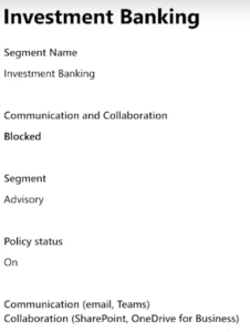 Blocked File Collaboration based on Information Barriers settings