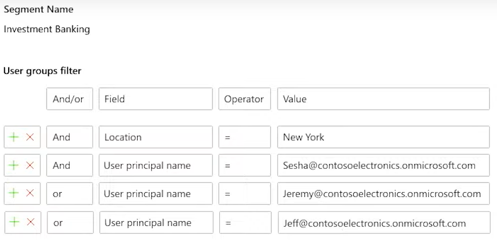 Create segments in Office 365 Security and Compliance Center