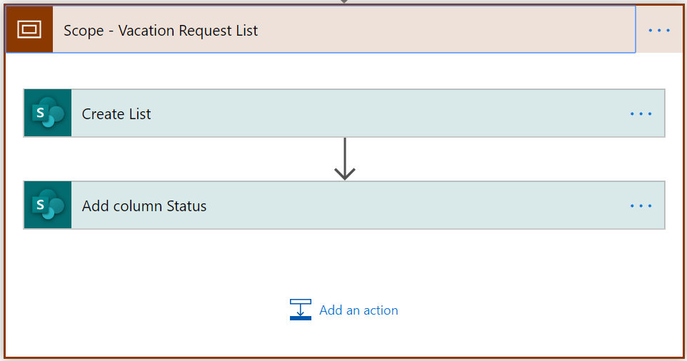 Scope - Vacation Request app in SharePoint