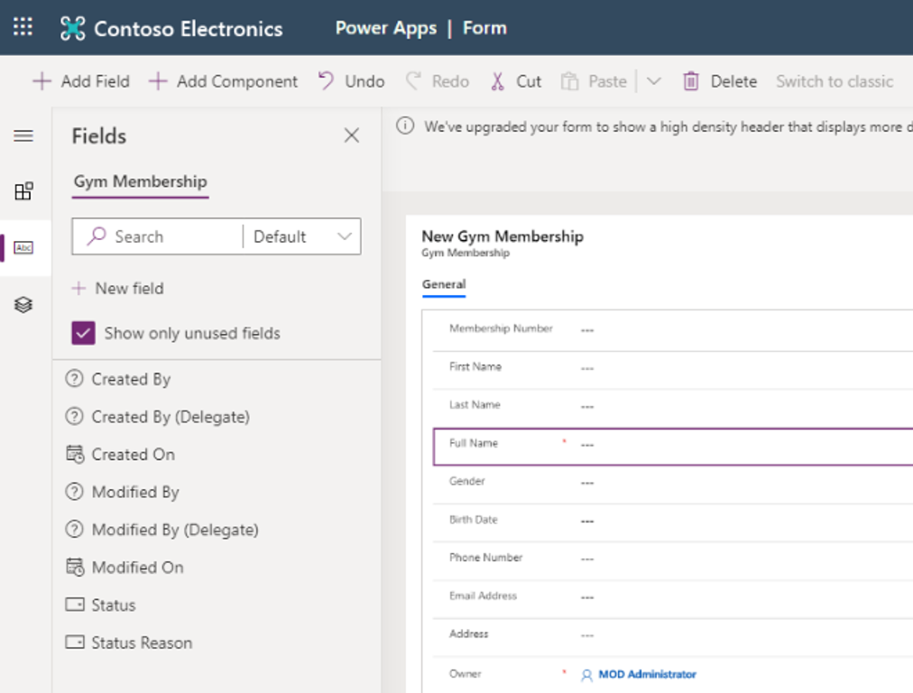 Form settings in Power Apps Portals