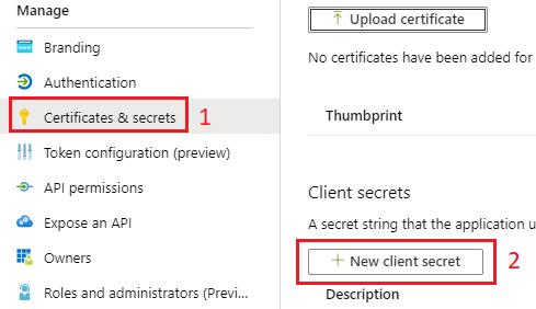 New Client Secret Azure AD Nintex
