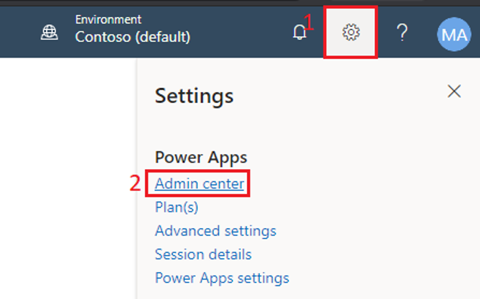 Setting up a new Power Apps environment
