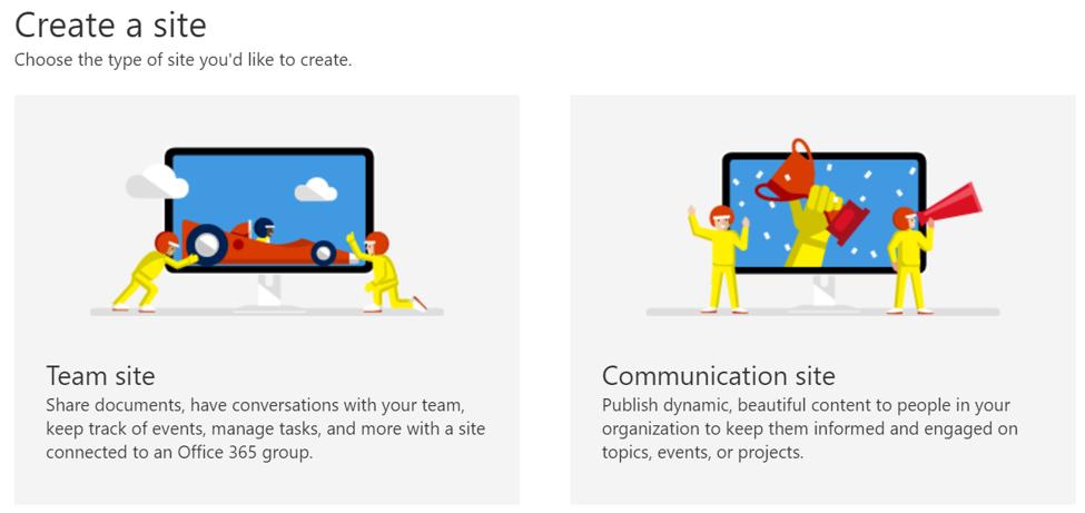 SharePoint Admin Center - Site Template
