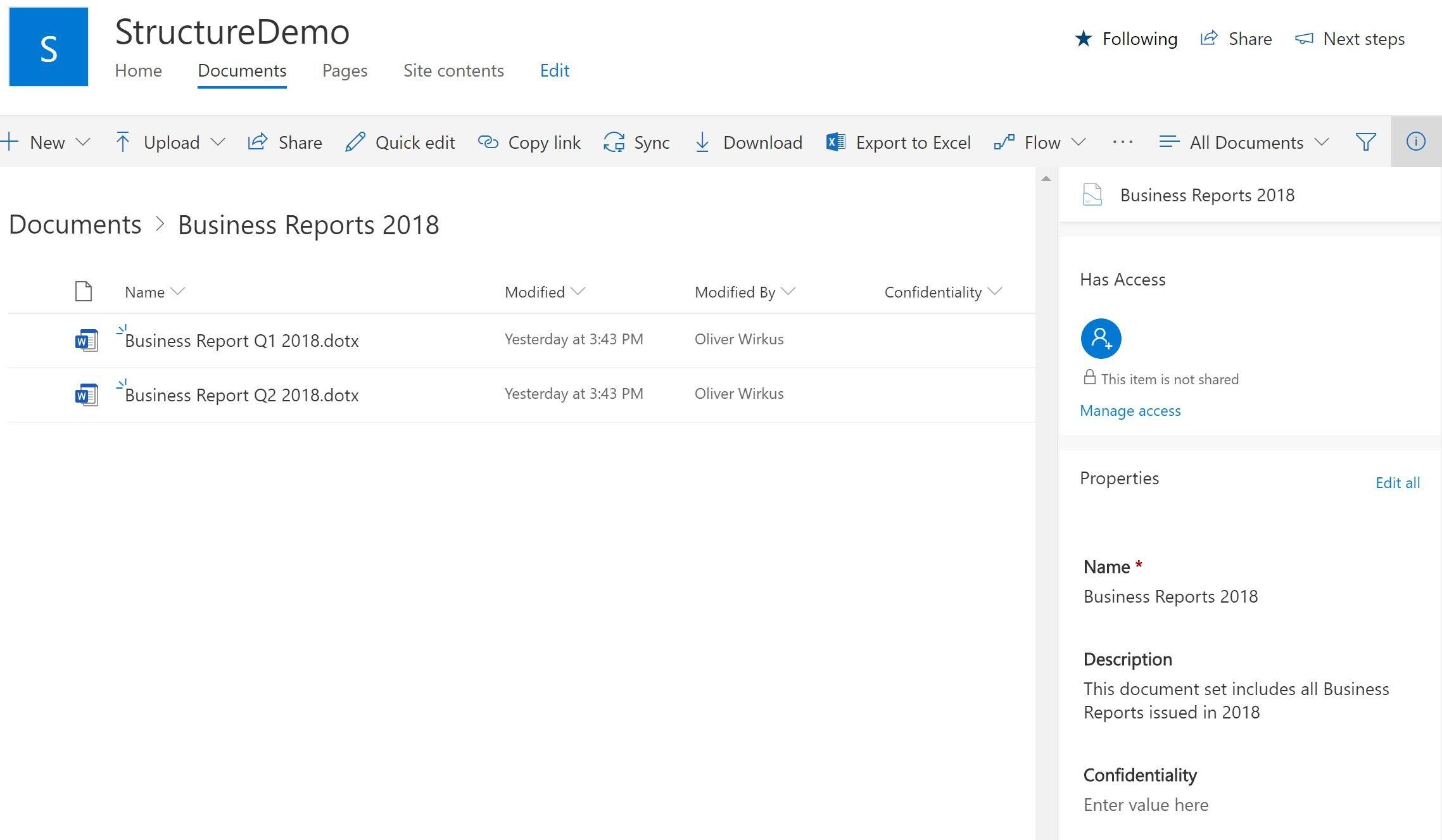 SharePoint Data Sets