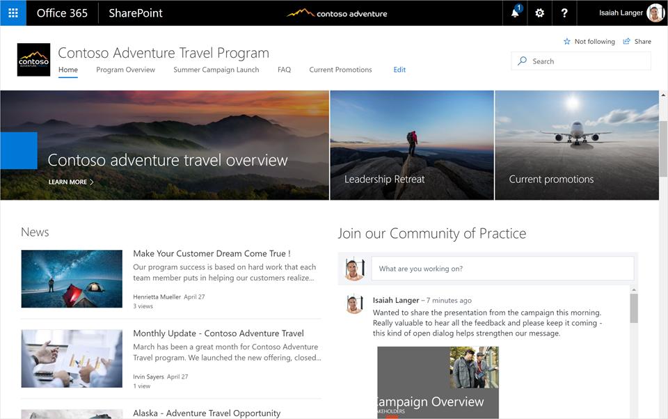 SharePoint Online Modern Site Template