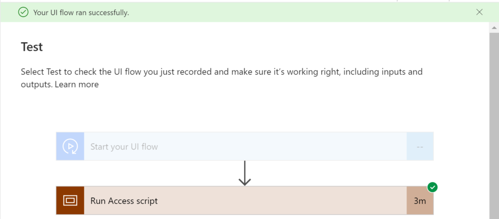 Test UI flow in Power Automate