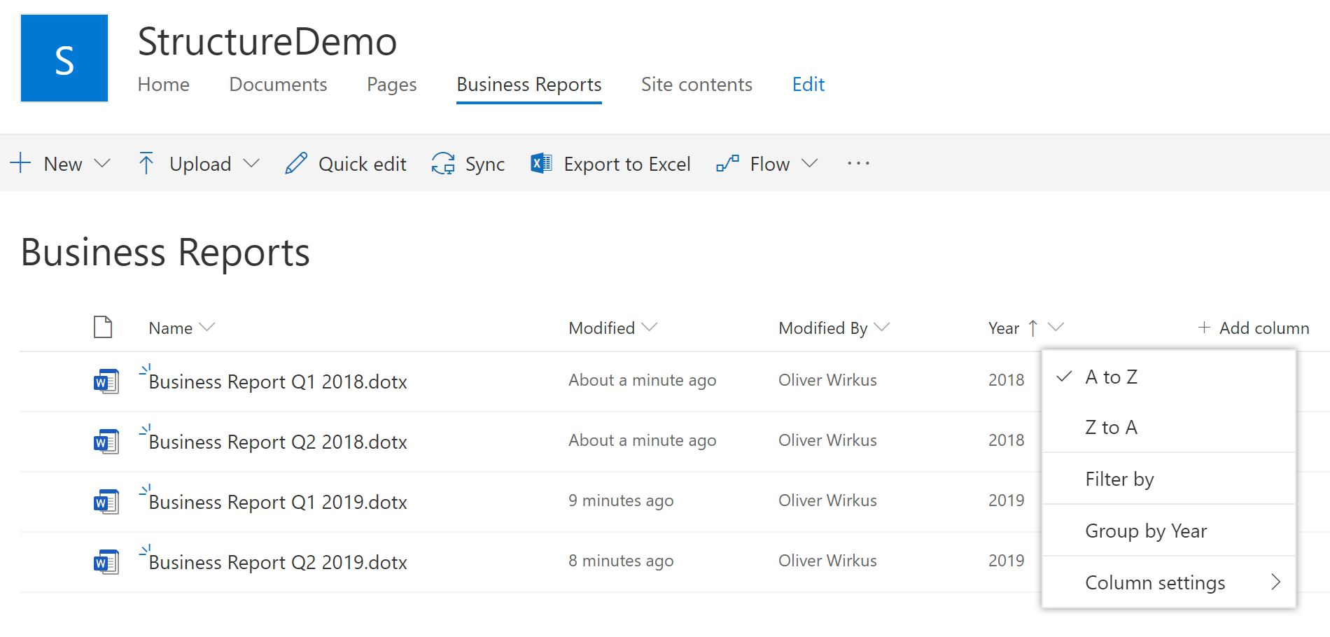 Using metadata in SharePoint to organize content structure