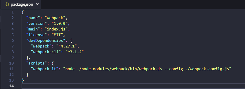 Webpack Demo 2 - Json package